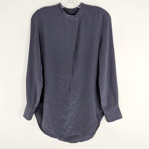 Madewell | Steel Gray 100% Silk Top